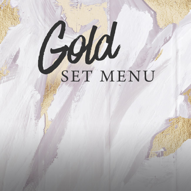 Gold set menu at The Apple Tree