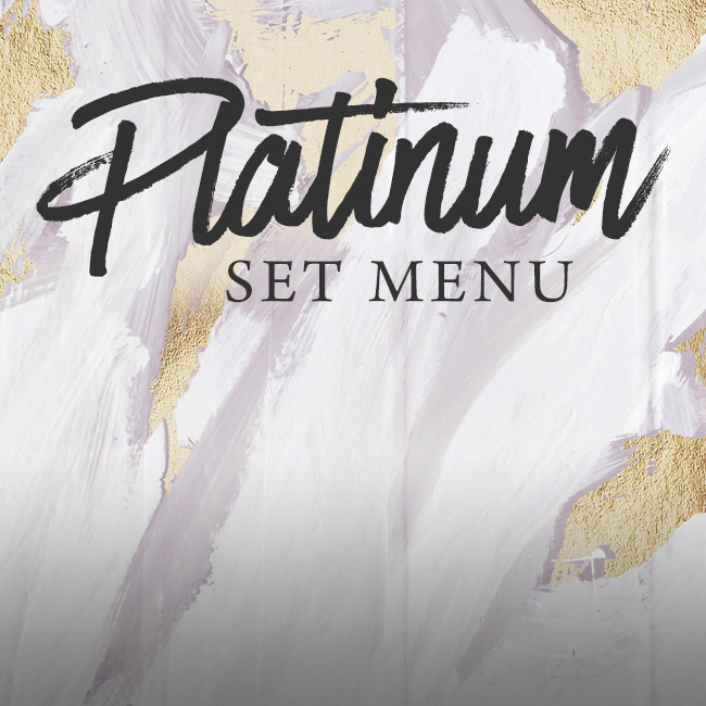 Platinum set menu at The Apple Tree
