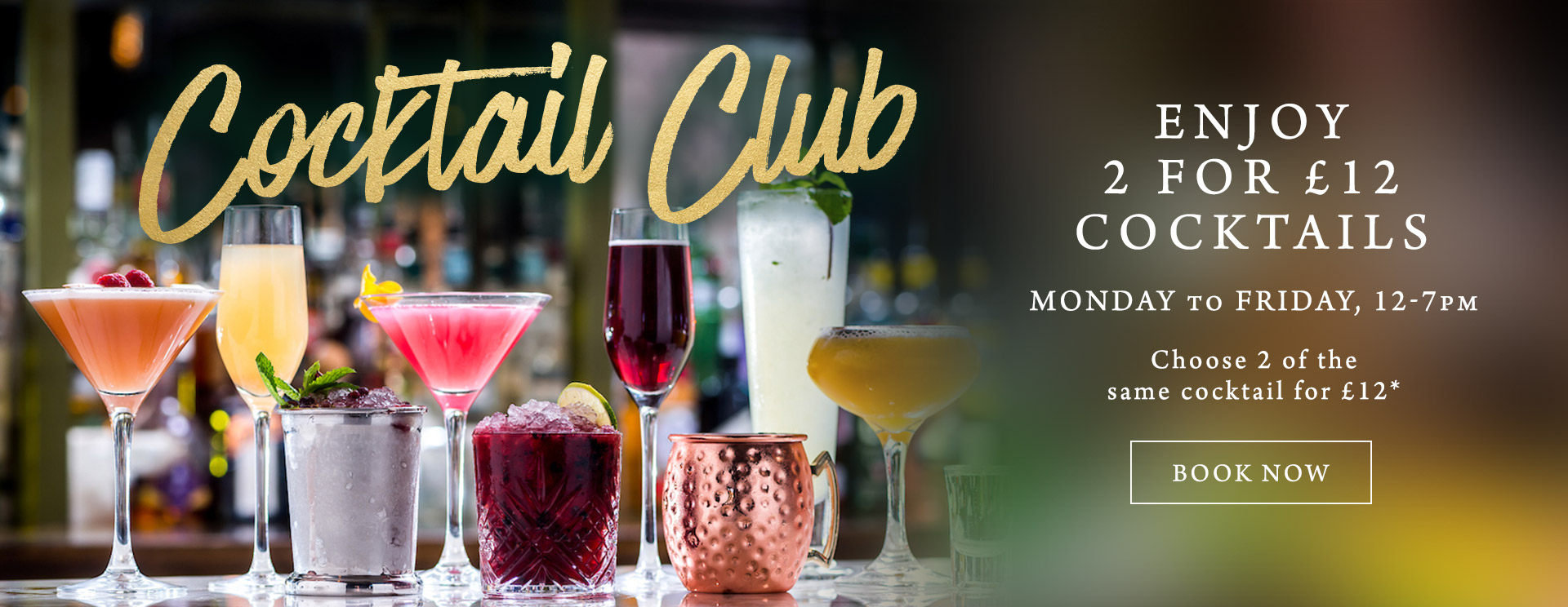 2 for £12 cocktails at The Apple Tree