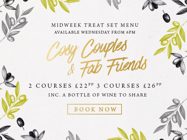 Midweek treat at The Apple Tree - Book now